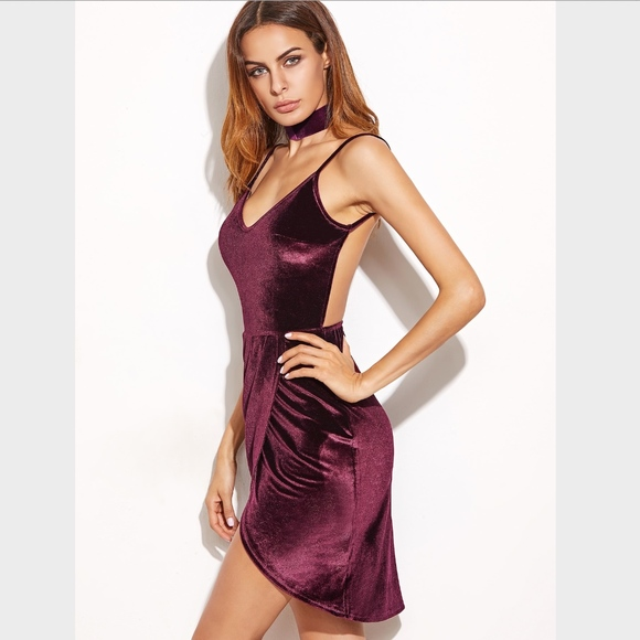 6a079f30e52f Velvet Backless Wrap Cami Mini Dress Burgundy. Boutique. Rouge!  M_5c7d7b09aa5719d66e7d1d95. M_5c7d7b09aa87708627adec63.  M_5c7d7b0903087c100781d5d9